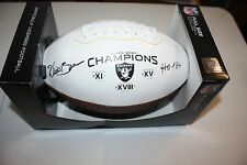 OAKLAND RAIDERS WILLIE BROWN #24 SIGNED FOOTBALL HOF 1984