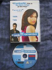 A WALK TO REMEMBER. (DVD, 2003). EAN: 7321900946353. Cert. PG.