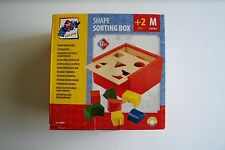 WOODEN SHAPE SORTING BOX - age 2+ / EXCELLENT CONDITION !!