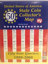 NEW 1999-2008 United States of America Fifty State Quarters Coin Collectors Map