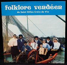 Autographed Bise-Dur folklore vendéen Saint-Gilles Croix de Vie LP & CV VG++
