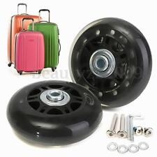 2 Set Luggage Suitcase Black Wheels OD 70mm Axles Deluxe Repair Replacement
