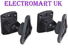 UNIVERSAL SPEAKER LOUDSPEAKER WALL MOUNT BRACKETS HOME CIMEMA / SATELLITE X 2