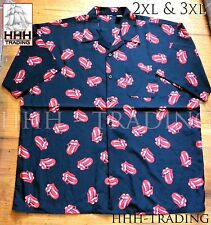 Dragonfly Men's Rolling Stones Button Up Shirt in 3XL