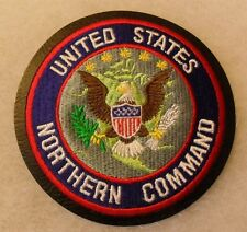 """UNITED STATES NORTHERN COMMAND"" COLOR EMBROIDERED ON BLACK LEATHER BASE 4"" CE"