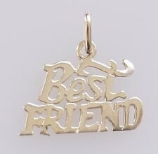 10k Yellow Gold Best Friend Charm Pendant
