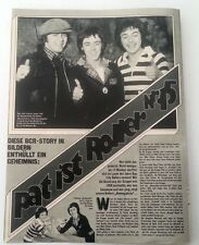 BAY CITY ROLLERS 'Pat is 5th Roller' magazine PHOTO/Poster/clipping 11x8 inches