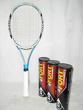 "DUNLOP "" 2 HUNDRED "" TOP TENNISSCHLÄGER GRIFFSTÄRKE: L4 + 12 TENNISBÄLLE"