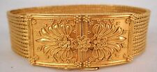 Intricate Ilias Lalaounis 18K gold woven Etruscan bracelet in box 51g EX