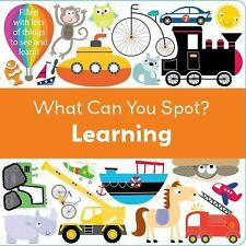 What Can You Spot?: Learning by Frankie Jones (2016, Board Book)
