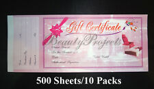 (500pcs) Professional Nail Beauty Salon Gift Certificates 10 Booklets/500 Sheets