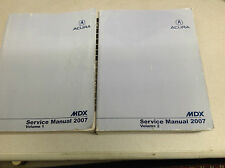 2007 Acura MDX Service Repair Shop Workshop Manual Set FACTORY OEM Book