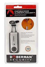 Doberman security portable door alarm w/flashlight