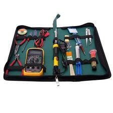 17in1 110V SMD Electric Rework Soldering Iron Kit w Desoldering Pump Multimeter