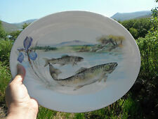 "Oval Platter Depicting Trout In Loch/Lake. Tudor Pride. 12 3/4"" x 9 3/4""."