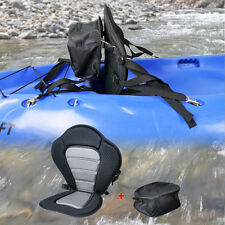 Deluxe Padded Kayak Canoe Seat Adjustable Backrest Straps Brass Snap Hooks NEW