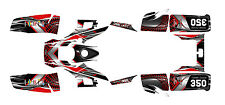 Yamaha Warrior 350 graphics sticker kit #7777 Red Free Custom Service