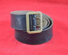 GERMAN WWII WEHRMACHT OFFICER'S LEATHER BELT & OPEN CLAW BELT BUCKLE WAR RELIC