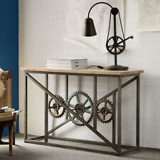 Industrial Console Table Eva Range  made from Iron & Wood EV10