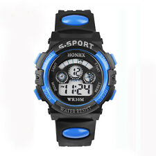 Waterproof Child Girl Boy Watch Digital LED Quartz Alarm Date Sports Wrist Watch