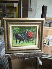 "SUPERB ORIGINAL DENNIS SYRETT ""Home James"" Chelsea pensioners Horse OIL PAINTING"