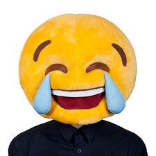 Cry Laughing Emoji Face Mask Mask for Novelty Funny Phone Masquerade Fancy Dress