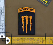 """Ricamata / Embroidered Patch """"M**ster Energy"""" Orange with VELCRO® brand hook"""