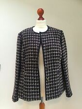 M & S Marks and Spencer PER UNA Ladies purple check  jacket UK 18