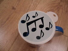 Laser cut music notes design coffee and craft stencil