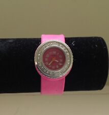 Boutique Jeweled Pink Slap Bracelet Girls Watch~EUC~Very Unique!