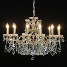 Superb Commercial/shop quality Large Gold 12 Branch Shallow Ceiling Chandelier.