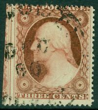 USA : 1857. Scott #26A Used. cds cancel with part adjoining stamp. Catalog $150.