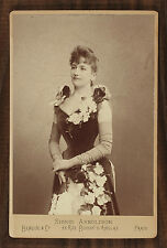 Sigrid Arnoldson Opéra Singer Photo Cabinet Card Benque Paris