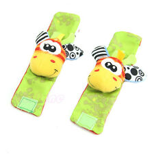 1PC Cute Animal Infant Baby Kids Hand  Wrist Bells Foot Sock Rattles Soft Toys