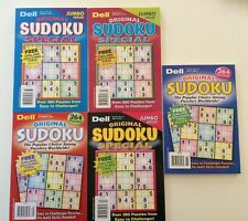 Lot of 5 Dell Original Sudoku JUMBO SPECIAL $24.95 retail Penny Press