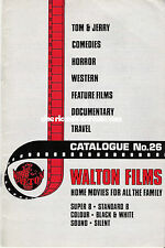 ★CATALOGO WALTON Super 8 mm HOME MOVIES IN INGLESE (Laurel & Hardy,Tom & Jerry)