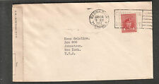 Canada Jan 1944 WWII Regina examiner B officially sealed cover Braemar Apt to US
