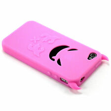 New Light Pink Evil Devil Demon Silicone Soft Design Case For iPhone 4 4G 4S