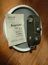 Keystone K-8 8mm Movie camera with manuals RARE! Collectable! 1936?