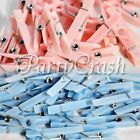 50 Small Clothes Pins Baby Shower Favors Pink Blue Party Decoration Boy Girl
