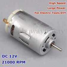 DC 12V 21000RPM Elettrico Motore Ball Bearing Large Torque DIY Motor JOHNSON 550