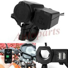2.1A Dual USB Power Outlet Port Motorcycle Waterproof Charger For I5s I6 GPS NEW
