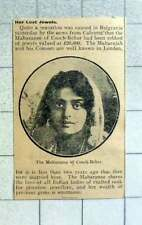 1915 The Maharani Of Cooch Bihar Robbed Of Her Jewels