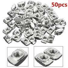 50Pcs Carbon Steel Drop In T-Nut M4 Thread For 20 Series Aluminum Slot 10x6x4mm