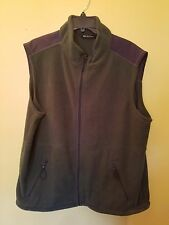 Tek Gear Mens Green Fleece Zip Front Vest Size XL