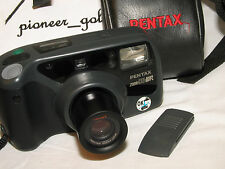 PENTAX ZOOM 90WR WATER RESISTANCE CAMERA w/built-in zoom lens, REMOTE, bag