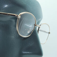 Reading Glasses Clean & Basic No Fuss Simple Metal Gold Frame Lens Power +2.50