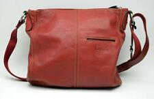 "FOSSIL Large ""Hanover"" Soft Leather Crossbody Bag Purse Red ZB2871"