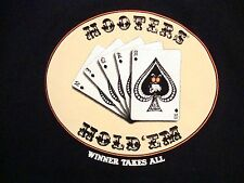 Hooters Hold'Em Cards Winner Takes All Sexy Girls Poker Restaurant T Shirt L