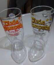 LOT OF 2 DIXIE STAMPEDE PLASTIC BOOT BEER MUGS  PIGEON FORGE / MYRTLE BEACH